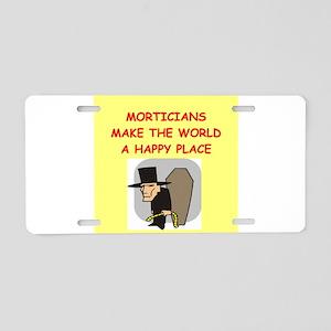 mortician Aluminum License Plate