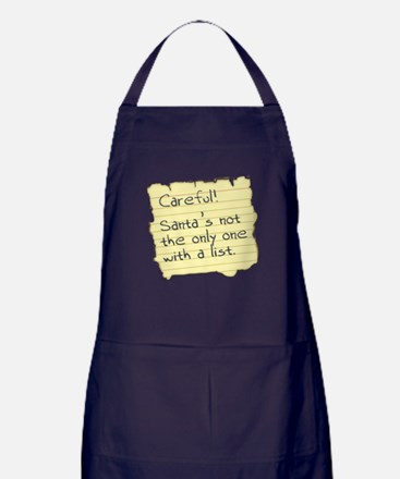 Santa's List Apron (dark)