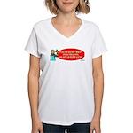 Ask WWJD Too Often . . . Women's V-Neck T-Shirt