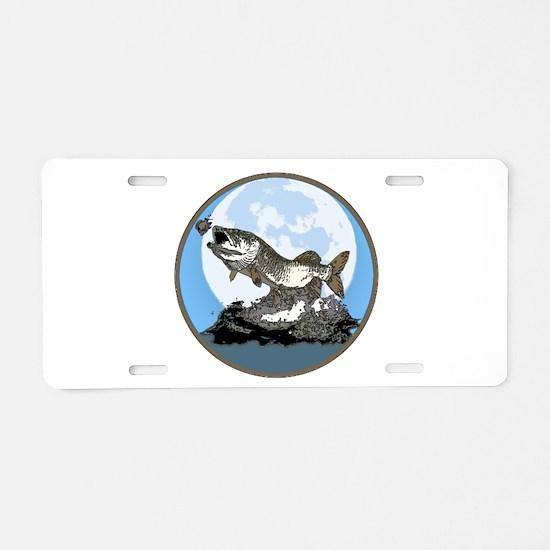 Musky moon light Aluminum License Plate