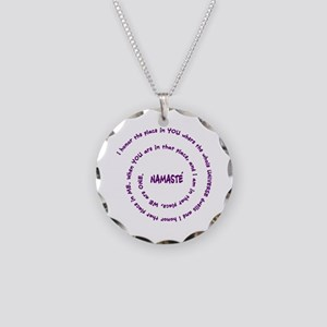 Namaste necklaces cafepress namaste meaning in sacred pu necklace circle charm aloadofball Images