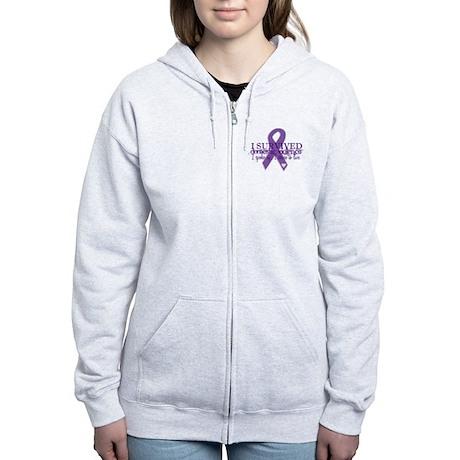 Domestic Violence Survivor Women's Zip Hoodie