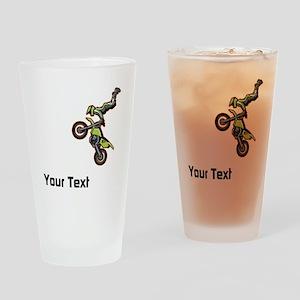 Motorbike Jump Drinking Glass