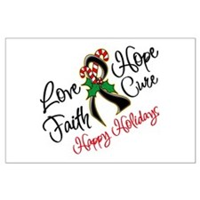 Holiday Hope Skin Cancer Large Poster