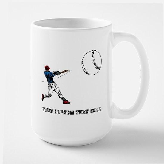 Baseball Player with Custom T Large Mug