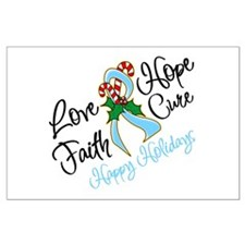 Holiday Hope Prostate Cancer Large Poster