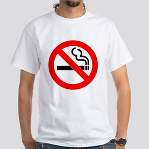 No Smoking White T-Shirt