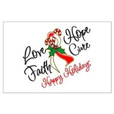 Holiday Hope Oral Cancer Large Poster