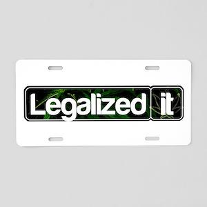 Legalized It Aluminum License Plate