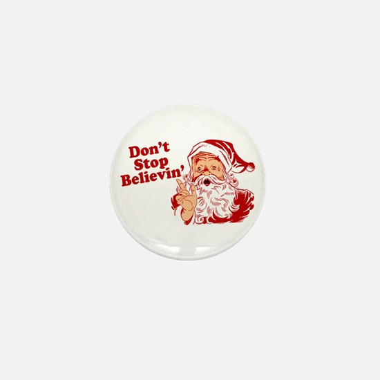 Don't Stop Believin' Santa Mini Button
