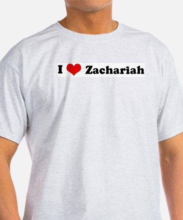 I Love Zachariah Ash Grey T-Shirt