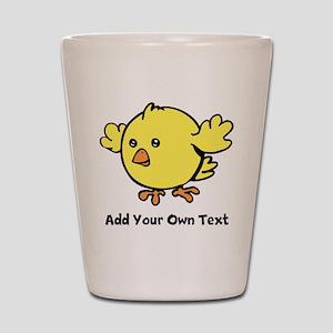 Cute Chick. Black Text Shot Glass