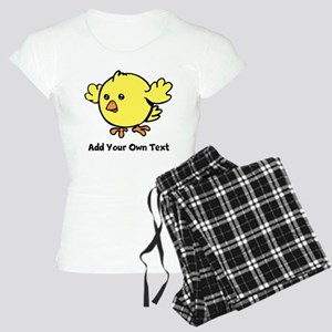 Cute Chick. Black Text Women's Light Pajamas