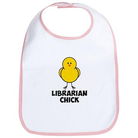 Librarian Chick Bib