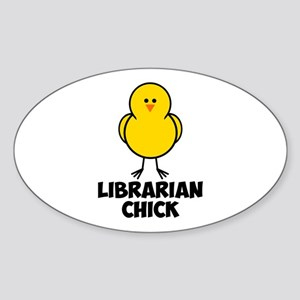 Librarian Chick Sticker (Oval)