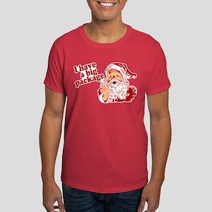 Santa Has a Big Package Dark T-Shirt