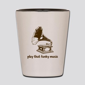 Funky Music (brown) Shot Glass