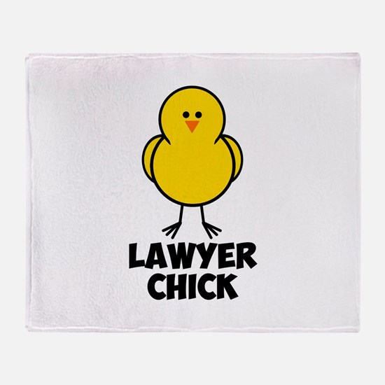 Lawyer Chick Throw Blanket
