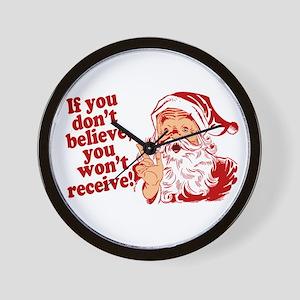 Believe in Santa Claus Wall Clock