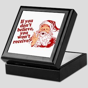 Believe in Santa Claus Keepsake Box