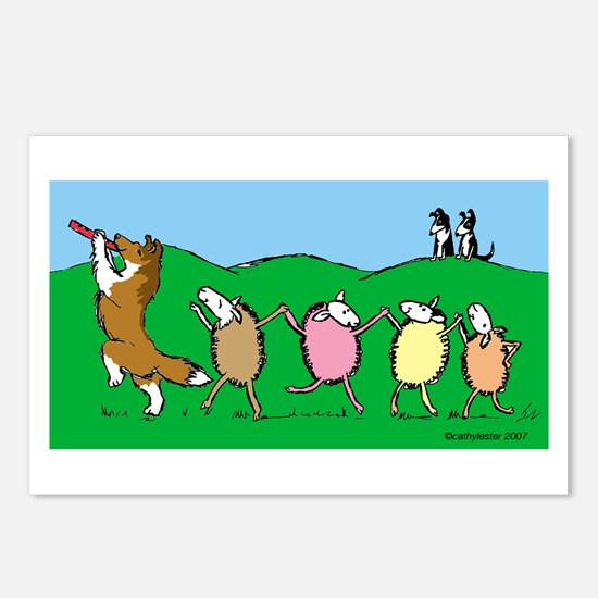 Pied Piper Sheltie Postcards (Package of 8)