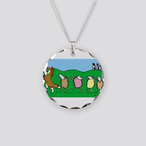 Pied Piper Sheltie Necklace Circle Charm