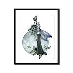 Midnight Rose Fairy Framed Panel Print