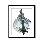 Midnight Rose Fairy Framed Panel Print