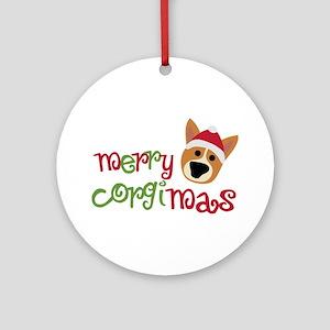 Merry Corgimas Ornament (Round)