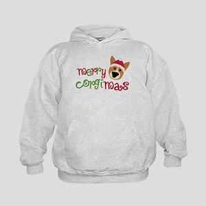 Merry Corgimas Kids Hoodie