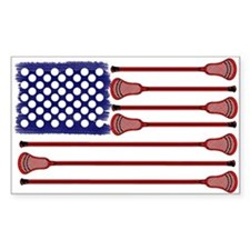 Lacrosse AmericasGame Sticker (Rectangle)