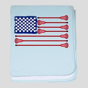 Lacrosse AmericasGame baby blanket