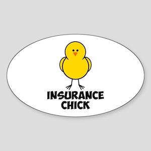 Insurance Chick Sticker (Oval)