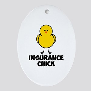 Insurance Chick Ornament (Oval)