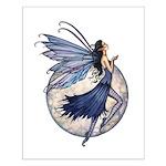 Midnight Blue Fairy Fantsy Art Small Poster