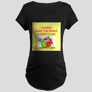 clowns Maternity Dark T-Shirt