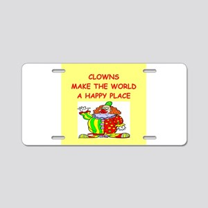 clowns Aluminum License Plate
