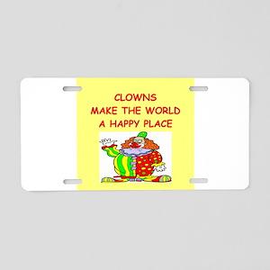 clowns Aluminum License Plate