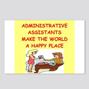 administrative assistant Postcards (Package of 8)