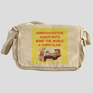 administrative assistant Messenger Bag
