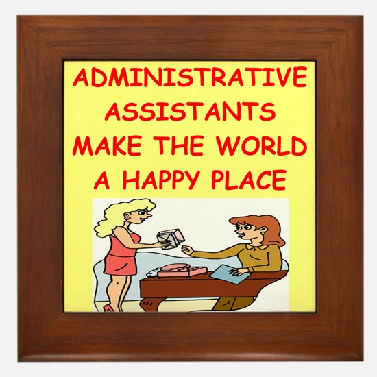 administrative assistant Framed Tile