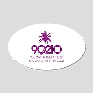 90210 22x14 Oval Wall Peel