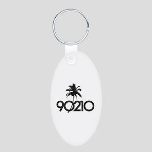 90210 Aluminum Oval Keychain