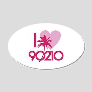 I Love 90210 22x14 Oval Wall Peel