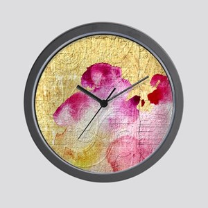 Fancy Vintage Floral Wall Clock