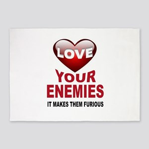 ENEMIES 5'x7'Area Rug