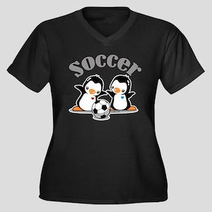 I Like Socce Women's Plus Size V-Neck Dark T-Shirt