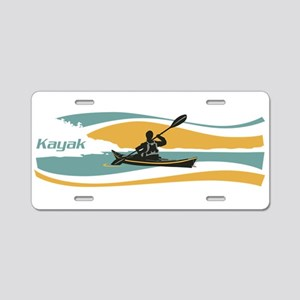 Kayak Sunrise Aluminum License Plate