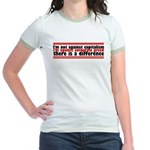 I'm Against Corporate Greed Jr. Ringer T-Shirt
