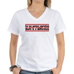 I'm Against Corporate Greed Women's V-Neck T-Shirt